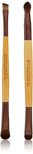 EcoTools Eye Enhancing Duo Brush Set, Made with Recycled and