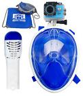 180° Full Face Diving Snorkel Swimming Underwater for GoPro