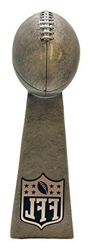 Fantasy Football FFL Silver Tower Trophy - 9.5 Inches Tall