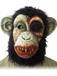 Ferocious Fangs Deluxe Zombie Chimp Mask with Teeth