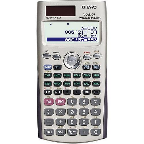 Financial Calculator, 12 Digit LCD, 3-1/8