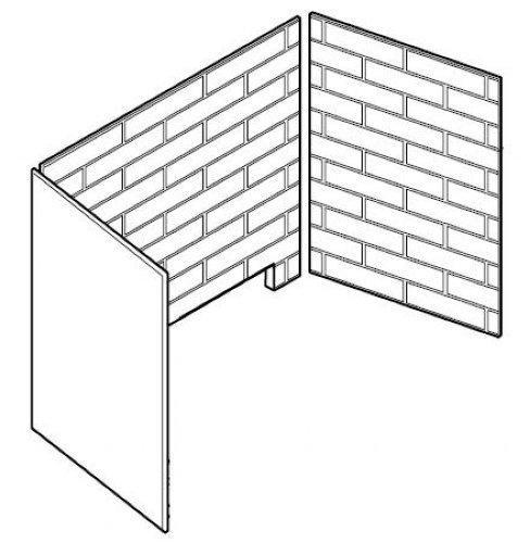 Firebrick Walls and Hearthbrick for KHLDV600 Cottage