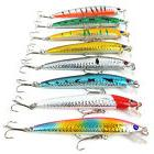 Lot 30pcs Fishing Lures Fishing Bait Crankbait Hooks Fishing
