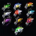 10Pcs Fishing Lures Crankbait Wobble Lot Minnow Fish Bass