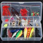 Fishing Lures 101pcs Hooks Crankbaits Baits Minnow Tackle