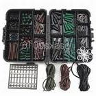 Fishing Tackle Box Set Kit Carp Tubes Safety Clips Hooks