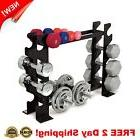 Fitness Dumbbell Rack Weight Barbell Storage Home Gym