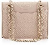 Tory Burch Fleming Quilted Medium Flap Shoulder Bag, Light
