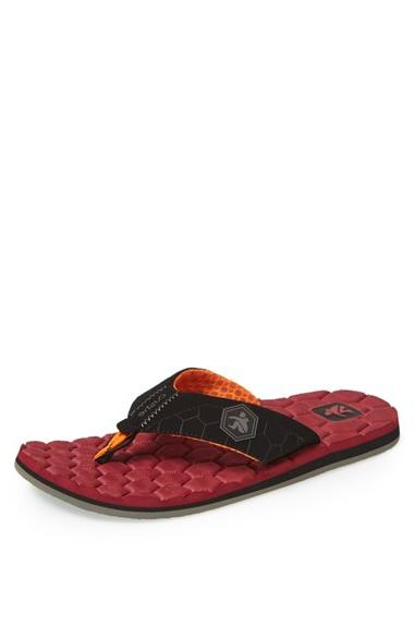 Men's Cushe 'Flipside' Flip Flop Red/ Black 40 EU