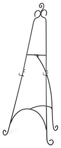 Displays2go Floor Easel with Scroll Details and Height-