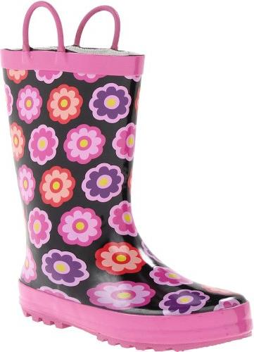 Bogs Flower Dot Boot - Girls' Teal, 6.0