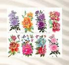 6 sheets large flower rose peony temporary tattoo awesome