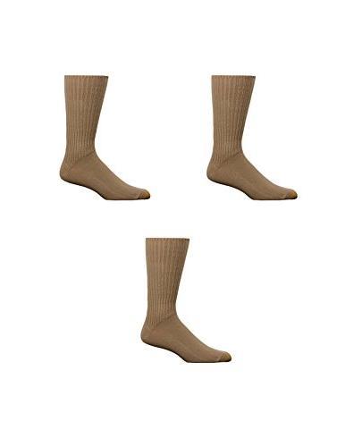 Gold Toe Men's Fluffies Cotton Crew Socks , Khaki