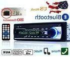 12V FM In Dash Car Stereo Radio 1 DIN SD/USB AUX Bluetooth