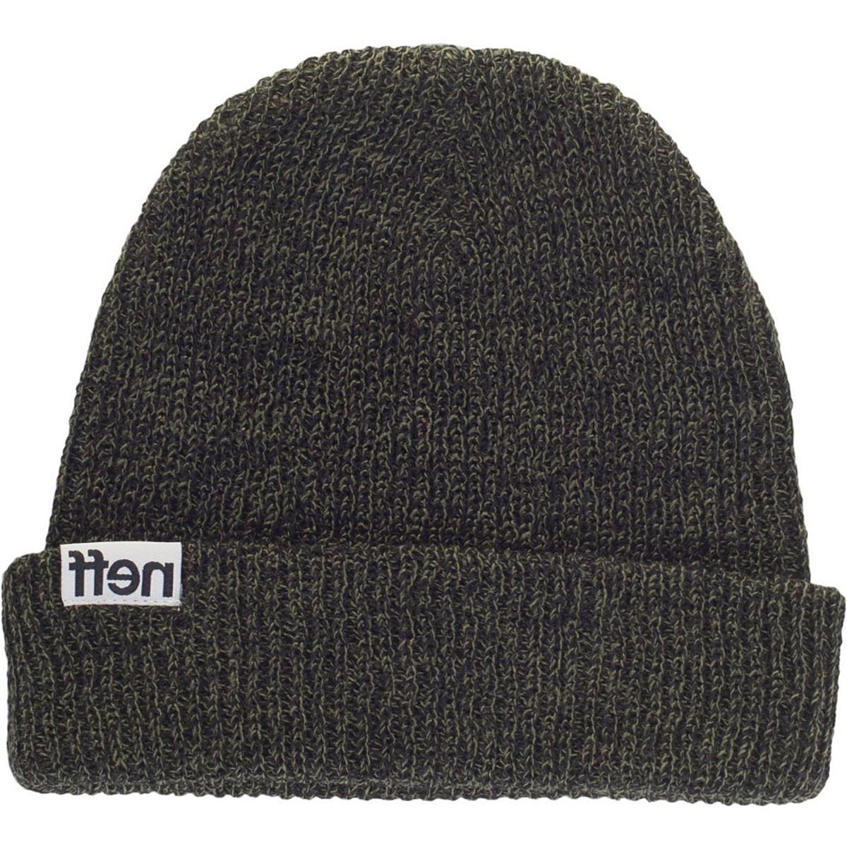 Neff Fold Heather Beanie Black/Olive, One Size