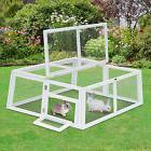 "47"" Foldable Rabbit Hutch Run Small Animal Pet Cage Outdoor"