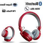 Foldable Wireless Bluetooth Stereo Headsets With Mic