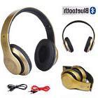 Foldable Wireless Stereo HeadPhone Bluetooth Over ear