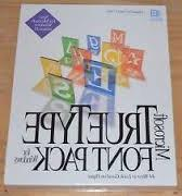 Microsoft True Type Font Pack 3.1
