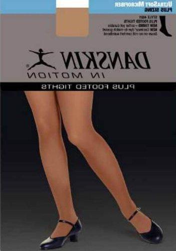Danskin Women's Footed Tight,Light Toast,4X