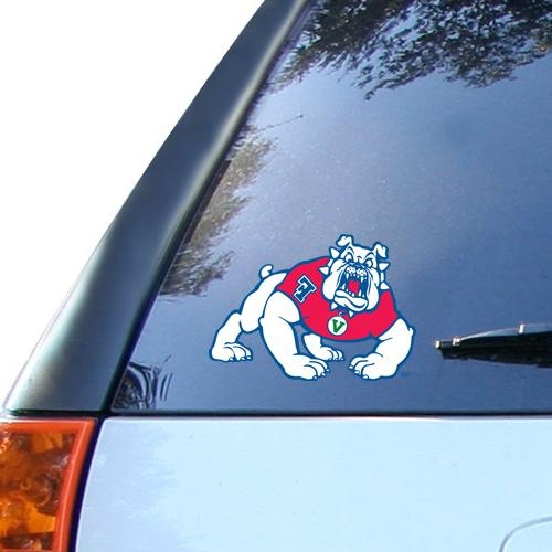 "Fresno State Bulldogs 6"" x 4.5"" Ultra Car Decal"