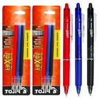 Pilot FriXion Clicker Erasable Gel Ink Pens, 3 Pens With 2