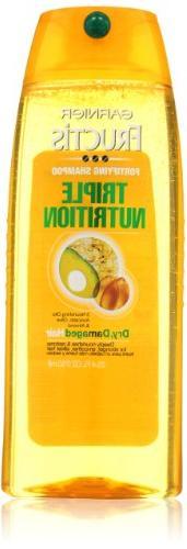 Garnier Fructis Triple Nutrition Shampoo, 25.4 Fl Oz