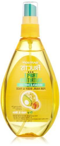 Garnier Fructis Triple Nutrition Miracle Dry Oil for Hair,