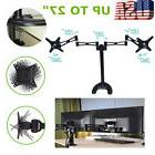 Fully Adjustable Dual Monitor Arms Desk Mount Stand /For