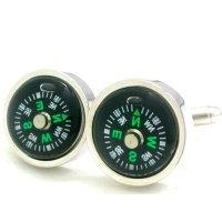 APEX Fun Compass Cuff Links with Gift Box