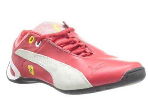 PUMA Future Cat M2 Ferrari Junior Tennis Shoe ,Black/Rosa