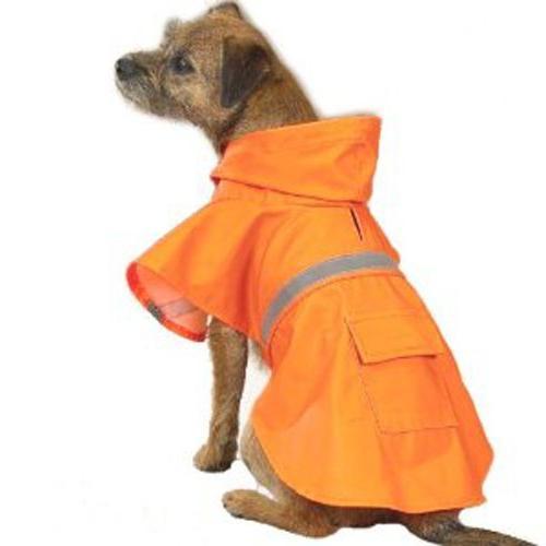 Guardian Gear Vinyl Dog Rain Jacket with Reflective Strip,