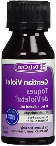 De La Cruz Gentian Violet First Aid Antiseptic Liquid 1 oz