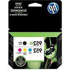 4-PACK HP GENUINE 952XL Black & 952 Color Ink  OFFICEJET PRO