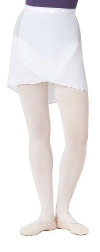 Capezio Adult Georgette Wrap Skirt White Adult Small