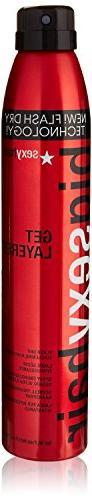 SEXYHAIR Big Get Layered Flash Dry Thickening Hairspray, 8.0