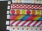 Gift wrap paper, colorful, different designs, new on roll, 2