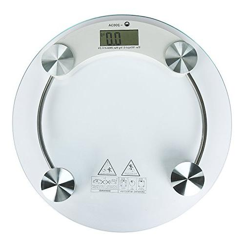 New Digital LCD Glass Electronic Weight Body Bathroom Health
