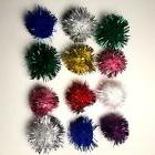 Glitter Sparkle Twinkle Balls LOT OF 12 Cat & Kitten Toy 1""