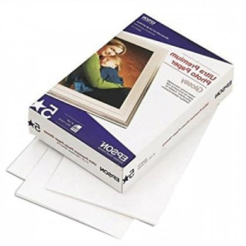100-Sheet 4x6 Glossy Ultra Premium Photo Paper