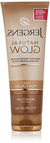 Jergens Glow Daily Moisturizer Med to Tan, 7.5 Ounce,