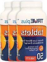 Trueplus Glucose Tablets Orange Flavor 50ct - 3 Pack