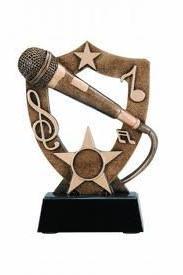 Gold Microphone Trophy / Karaoke Singer Award / Golden Mic