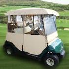 Golf Cart Cover Weather Protect Rain Enclosure PVC Windows 2