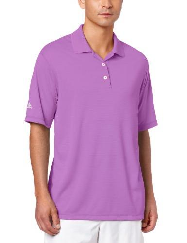 adidas Golf Men's Climalite Solid Polo Shirt, Grape, X-Large