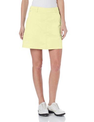 Puma Golf NA Women's Solid Tech Skirt, Scuba Blue, 10