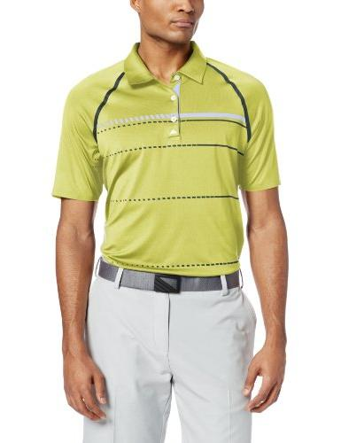 adidas Golf Men's Puremotion Tour ClimaCool Stripe Polo