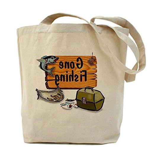 CafePress - Gone Fishing Design Tote Bag - Natural Canvas