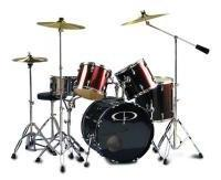 "GP Percussion GP300WR ""Studio"" 5-Piece Full Size Drum Set -"