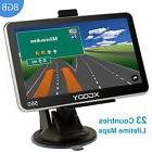"XGODY 5"" HD GPS Navigation System w/Speedcam Lifetime Maps"